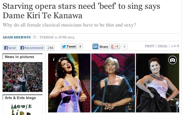 Opera stars need beef