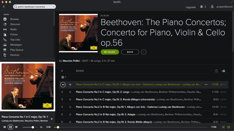 Spotify Screen Shot