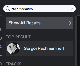 Spotify Screen Shot Rachmaninov