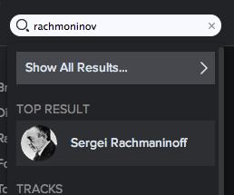 Spotify Screen Shot Rachmaninov